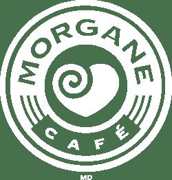 Logo blanc de café morgane